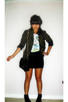 vintage blazer - Urban Outfitters top - Urban Outfitters skirt - Urban Outfitter