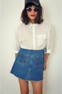 Vintage-skirt-whitecollar-blouse