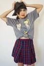 Plaid-skirt-vintage-skirt