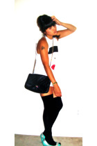 Urban Outfitters t-shirt - vintage purse - forever 21 shoes - tights