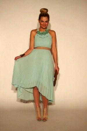 BCBG dress - BCBG bag - BCBG heels - BCBG bracelet