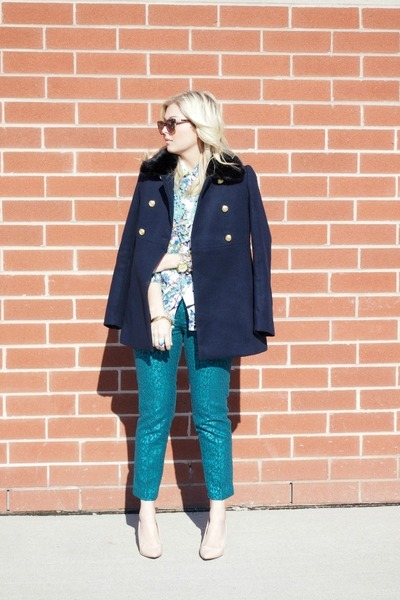 Zara shoes - Express coat - Gucci sunglasses - Joe Fresh blouse