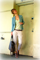 Zara pants - gladiator heel Report shoes - blazer BJB jacket