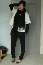 shirt - Mike & Chris jacket - Kenneth Cole scarf - Helmut Lang pants - BCBG shoe