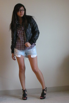 Silence  Noise jacket - Club Monaco shirt - Siwy shorts - Steve Madden shoes