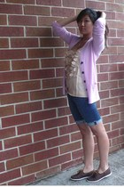 JCrew sweater - JCrew top - Ruehl No 925 shorts - Lands End shoes