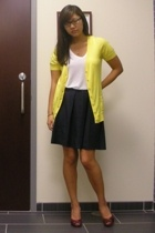 JCrew sweater - vince shirt - Cole Haan shoes - JCrew skirt