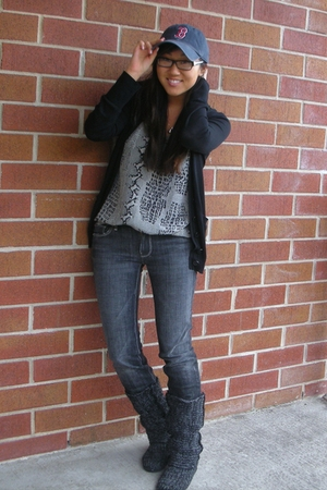 Club Monaco sweater - delias boots - Joie shirt - Seven For All Mankind jeans -