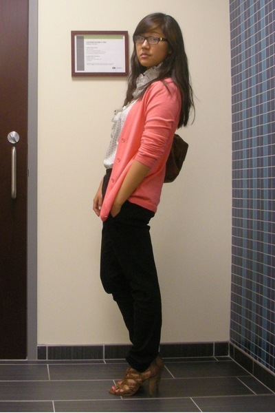JCrew sweater - JCrew blouse - Helmut Lang pants - Nine West shoes