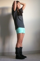 Love YaYa shirt - JCrew shorts - free people accessories - delias shoes