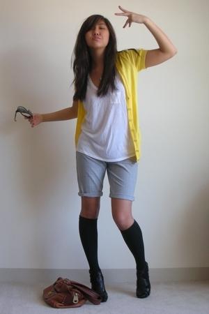 JCrew sweater - Alexander Wang shirt - Express shorts - Steve Madden shoes - Mar