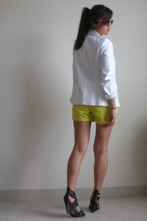 Joie shoes - JCrew shorts - Witchery shirt - Express blazer - Marc Jacobs sungla