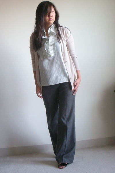 JCrew sweater - JCrew blouse - Alice  Olivia pants - bcbg max azria shoes