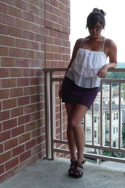 Club Monaco top - American Apparel skirt - Michael Kors shoes