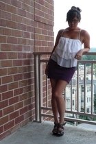 Club Monaco top - American Apparel skirt - Michael Kors shoes