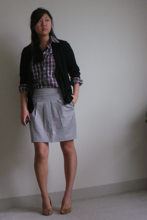 Club Monaco sweater - Club Monaco shirt - skirt - shoes