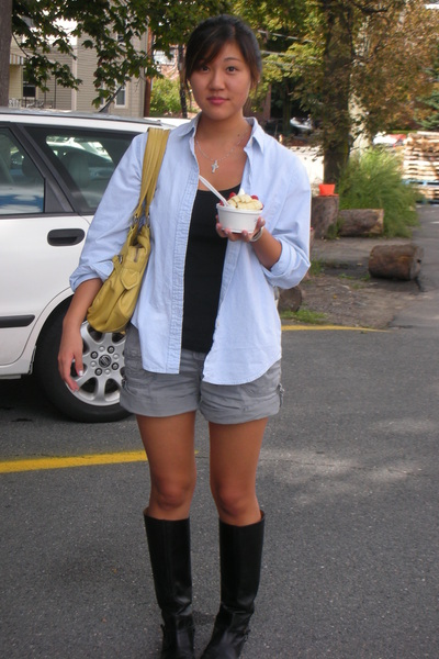 Lands End shirt - UO shirt - Ruehl No 925 shorts - Marc by Marc Jacobs accessori