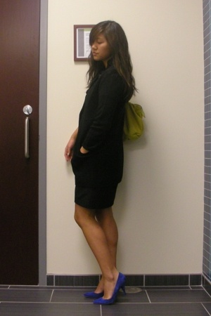 JCrew sweater - JCrew dress - Zara shoes - Marc by Marc Jacobs accessories