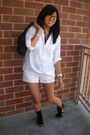White-jcrew-shirt-white-shorts-black-jeffrey-campbell-shoes
