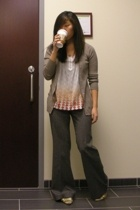 Zara sweater - Lux shirt - Alice  Olivia pants - Cole Haan shoes