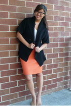 banana republic sweater - JCrew skirt - Alexander Wang top - Steve Madden shoes