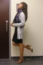 Marc by Marc Jacobs sweater - Zara dress - banana republic scarf - Nine West sho