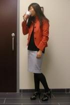 JCrew blazer - Alexander Wang shirt - Victorias Secret skirt - Michael Kors shoe