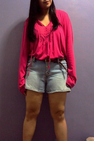 hot pink faded glory blouse