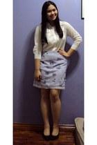 periwinkle vintage skirt