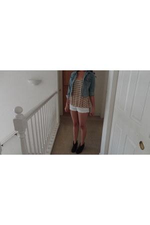 H&M shorts - Steve Madden boots - Levis jacket - H&M top