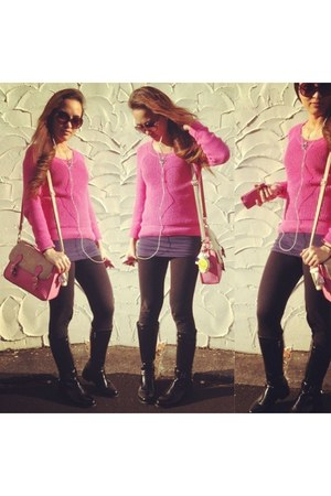 hot pink knitted sweater Dotti sweater