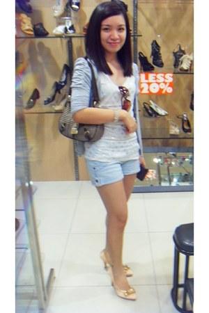 Chaps bag - i2i sunglasses - white Jewel blouse - Forever 21 cardigan