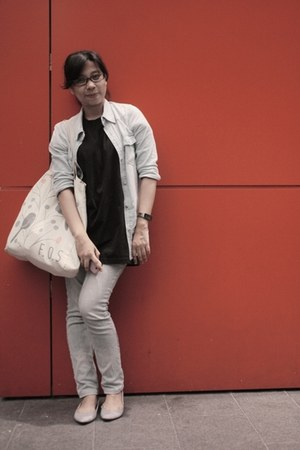 cotton on flats - dust jeans - Topshop jacket - FOS bag - Vincci watch