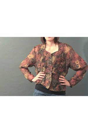 tribal-print none jacket