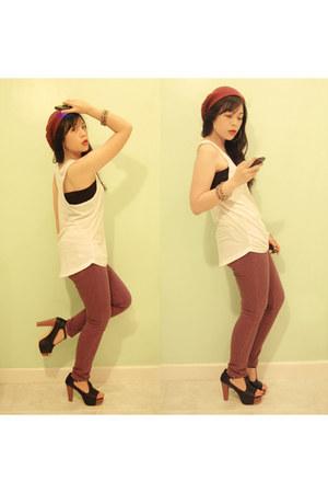 top - pants - heels
