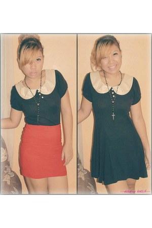 online shop peter pan collar dress - department store bandage skirt