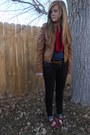 Maroon-forever-young-shoes-bronze-target-jacket-navy-down-east-basics-shirt