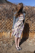 light purple homemade dress - heather gray shoes