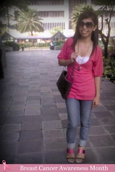 Kamiseta top - top - shoes - purse - FNH jeans
