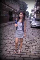 vest - top - skirt - purse - shoes