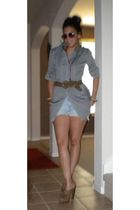 belt - sunglasses - shoes - shorts - top