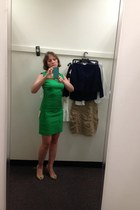 green laundry dress - nude Enzo Angiolini pumps