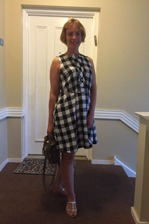 black gingham dress dress