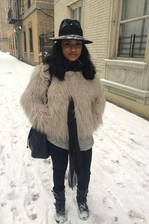 asos coat - Bershka hat