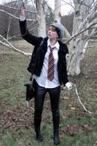 H&M Kids jacket - shirt - vintage tie - pants - vintage accessories - lindex hat