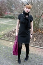 Oasis dress - H&M scarf - H&M accessories - Zara shoes - stockings - H&M accesso