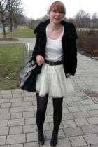 H&M t-shirt - H&M skirt - H&M coat - vintage belt - Iris Horbach accessories - Z