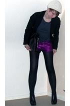 Topshop shorts - Bik Bok t-shirt - Pimkie blazer - Guess boots - vintage accesso