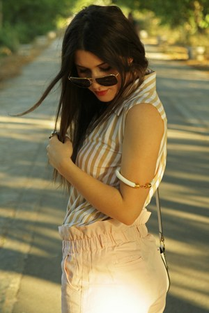 vintage vintage sunglasses - striped Reagalis Collection shirt