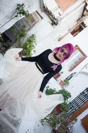 black Morph8ne top - white tulle skirt